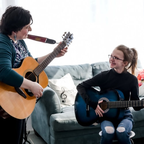 Valerie Villa - Summer Group Beginner Acoustic Guitar Lessons - Music Workshop - Buffalo Music Club